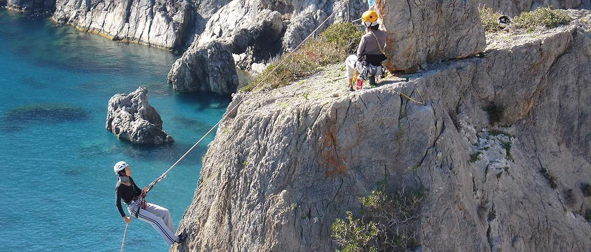Climbing holiday course in Crete